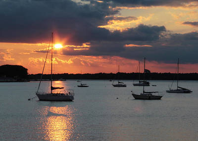 French Creek Bay Sunset Poster by Lori Deiter