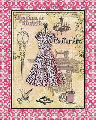 French Dress Shop-a1 Poster by Jean Plout