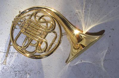 French Horn Iv Poster by Jon Neidert