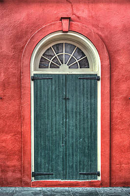 French Quarter Arched Door Poster by Brenda Bryant