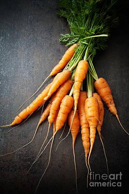 Fresh Carrots Poster by Kati Molin