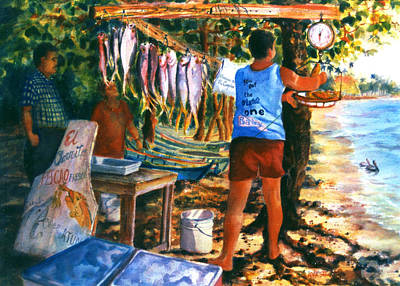 Fresh Fish Poster by Estela Robles