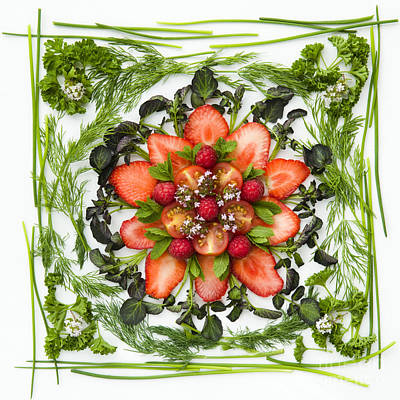 Fresh Fruit Salad Poster by Anne Gilbert