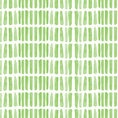 Fresh Grass- Abstract Pattern Painting Poster by Linda Woods