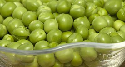 Fresh Green Peas Poster by Iris Richardson
