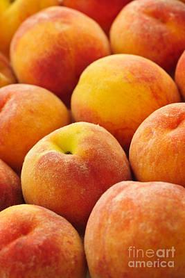 Freshness Of Peaches Poster by Elena Elisseeva