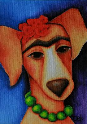 Frida Dog Poster by Deb Harvey