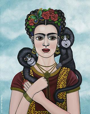 Frida In The Sky Poster by Victoria De Almeida