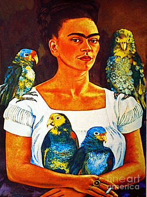 Frida In Tlaquepaque Poster by Mexicolors Art Photography