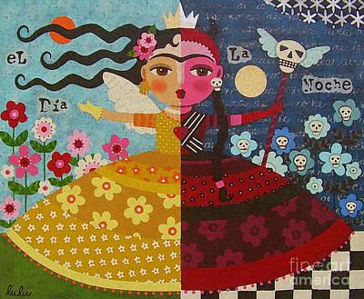 Frida Kahlo Angel Devil Queen Poster by LuLu Mypinkturtle