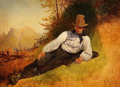 Friedrich Gauermann Bauernbursche 1830er Poster by MotionAge Designs