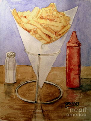 Fries For Lunch Poster by Carol Grimes