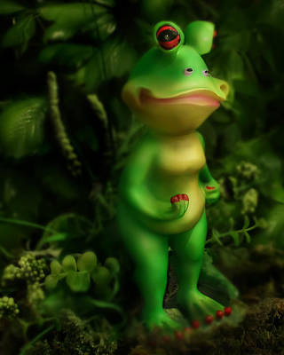 Frog Poster by Diane Bradley