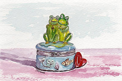 Frog Friendship Poster by Julie Maas