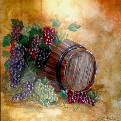 From Grape To Barrel Poster by Nora Niles