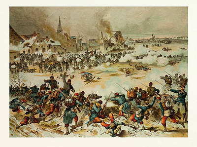 From The Battle Near Bapaume On The 3rd Of January Poster by French School