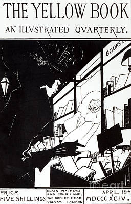 Front Cover Of The Prospectus For The Yellow Book Poster by Aubrey Beardsley
