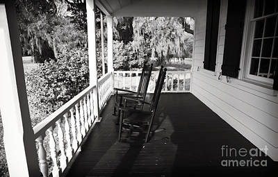 Front Porch Chairs Poster by John Rizzuto