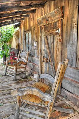 Front Porch Sittin Poster by Wendy Elliott