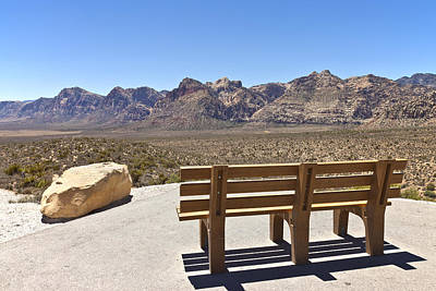 Front Row Seat Looking At The Landscape Red Rock Canyon Nevada. Poster by Gino Rigucci
