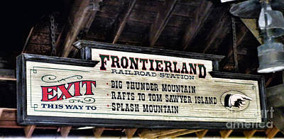 Frontierland Sign Poster by Thomas Woolworth