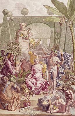 Frontispiece Of Hortus Cliffortianus Poster by Jan Wandelaar