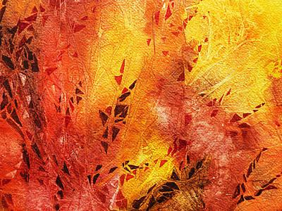 Frosted Fire IIi Poster by Irina Sztukowski