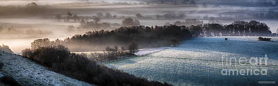 Frosty Spring Morning Panoramic Poster by Simon Bratt Photography LRPS