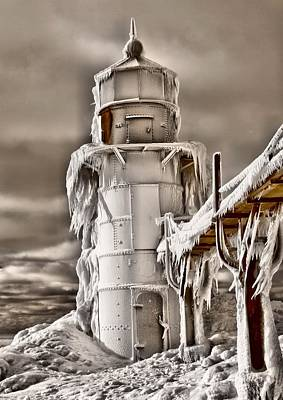 Frozen Lighthouse Poster by Dan Sproul