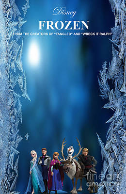 Frozen Movie Poster Poster by Marvin Blaine