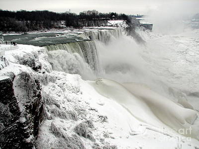 Frozen Niagara And Bridal Veil Falls Poster by Rose Santuci-Sofranko
