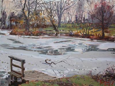 Frozen Pond Poster by Ylli Haruni