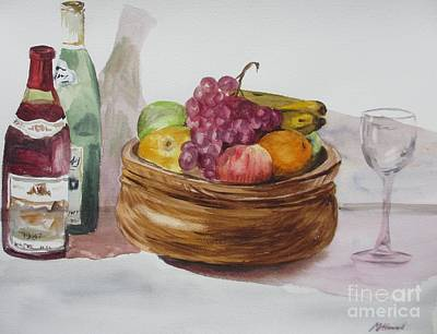 Fruit And Wine Poster by Martin Howard