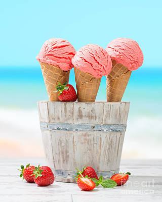 Fruit Ice Cream Poster by Amanda Elwell
