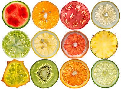 Fruit Market Poster by Steve Gadomski