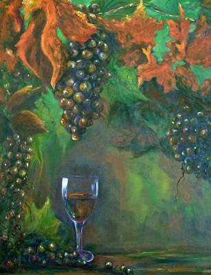 Wine Grapes Stillife Fruit Of The Vine Poster by Sandra Cutrer