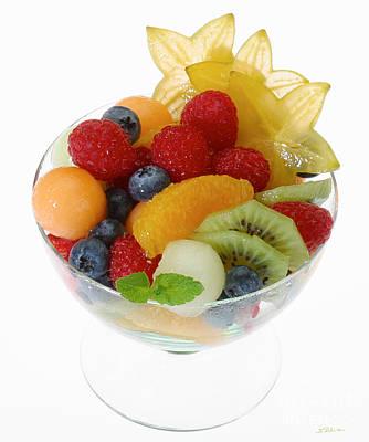 Fruit Salad Cup Poster by Iris Richardson