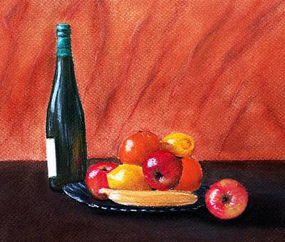 Fruits And Wine Poster by Anastasiya Malakhova