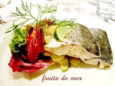 Fruits De Mer  Poster by Elaine Weiss