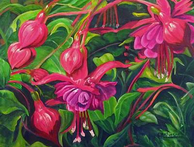 Fuchsia Fantastic Poster by Carol Allen Anfinsen