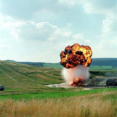 Fuel Tank Explosion Test Poster by Crown Copyright/health & Safety Laboratory Science Photo Library