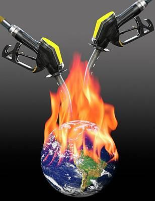 Fuelling Global Warming Poster by Victor De Schwanberg