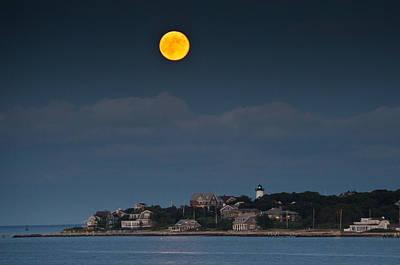 Full Moon Over East Chop Poster by Steve Myrick