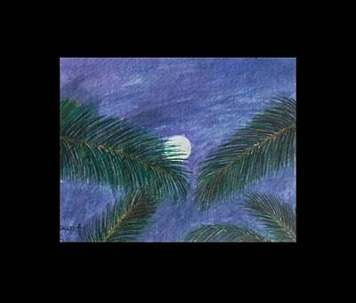 Full Moon Poster by Usha Rai