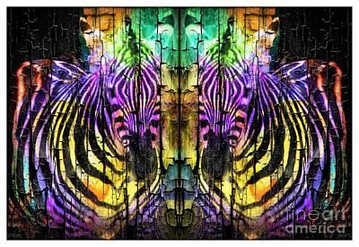 Fun Zebras Poster by Kathleen Struckle