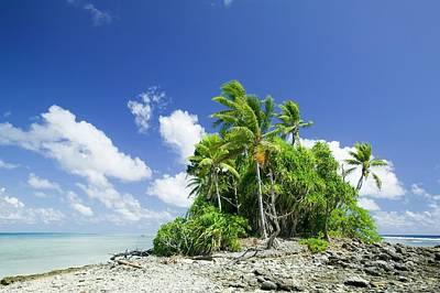 Funafuti Atol On Tuvalu Poster by Ashley Cooper
