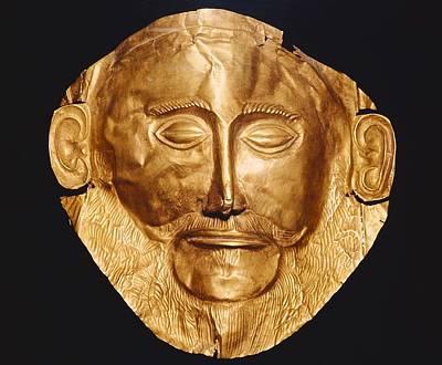 Funerary Mask Og Agamemnon. Ca. 1550 Poster by Everett