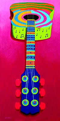 Funkadelic Guitar Poster by John  Nolan