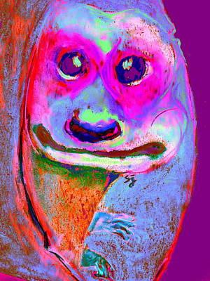 Funky Meerkat Tunnel Art Print Poster by Sue Jacobi