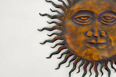 Funky Sunface Art Poster by Rebecca Brittain